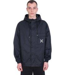 kenzo casual jacket in black polyamide