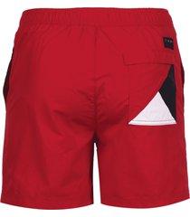 tommy hilfiger heren zwembroek side logo - rood
