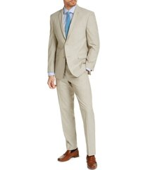 marc new york by andrew marc men's slim-fit taupe solid suit
