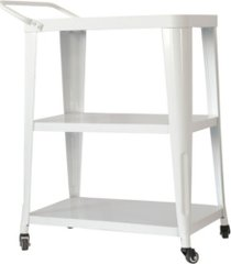 ac pacific 3-tiered metal frameindustrial dining cart with swivel wheels