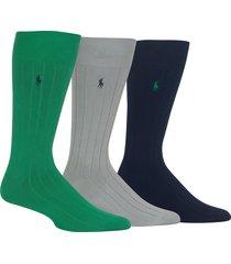 men's ralph lauren 3-pack supersoft ribbed socks