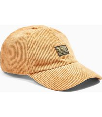 mens brown toffee corduroy curve peak cap