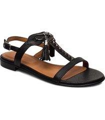 sandals 18626 shoes summer shoes flat sandals svart billi bi