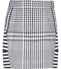 burberry check wool blend miniskirt