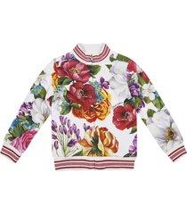 dolce & gabbana floral print tracksuit set