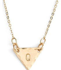 nashelle 14k-gold fill initial triangle necklace in 14k gold fill q at nordstrom
