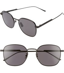 bottega veneta 56mm round sunglasses -