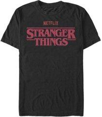fifth sun men's stranger things classic text logo short sleeve t-shirt