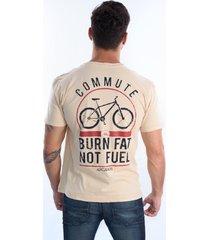 camiseta arcanos 100% algodão orgânica reta cicle caqui - kanui