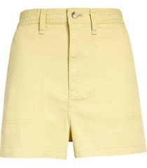 women's madewell camp shorts, size small - yellow