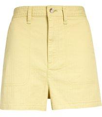 women's madewell camp shorts, size medium - yellow