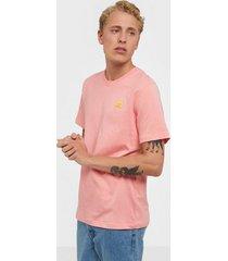adidas originals front back tee t-shirts & linnen pink