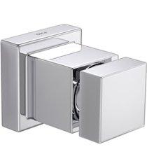 acabamento de registro de gaveta 1/2'', 3/4'' e 1'' cubo cromado