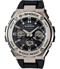 g-shock men's analog-digital black strap watch 59x52mm gsts110-1a