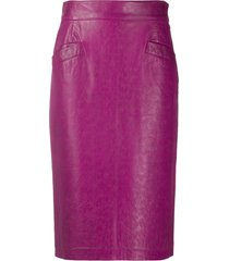 a.n.g.e.l.o. vintage cult 1980s high-waisted skirt - pink