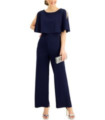 connected overlay wide-leg jumpsuit