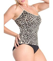 slimme leopard-print shaping camisole