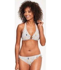 pineapple love halterneck bikini top