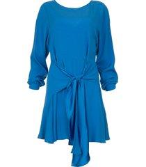 jurk met strikdetail anja  blauw