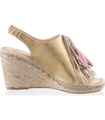 sandaletter alba moda guldfärgad