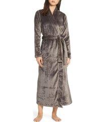 women's ugg marlow double-face fleece robe, size small - grey