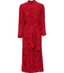 abito chemisier con cintura (rosso) - bodyflirt