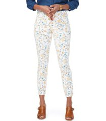 women's nydj ami ankle skinny jeans, size 0 - yellow