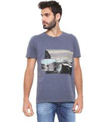 camiseta forum estampada azul - azul - masculino - algodã£o - dafiti
