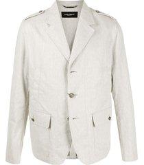 dolce & gabbana epaulette detail blazer - neutrals