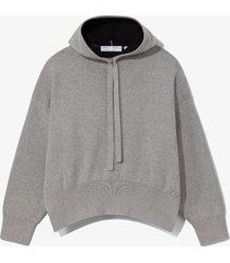 proenza schouler white label cashmere blend hoodie grey melange/black xs