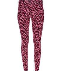 legging sport animal print color rosado, talla l