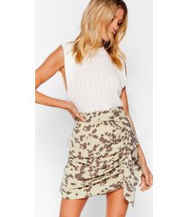 womens boom boom cow ruffle mini skirt - sage