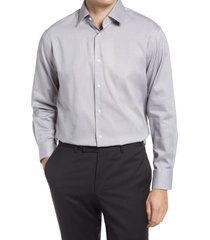 men's big & tall nordstrom traditional fit non-iron dress shirt, size 18.5 - 36/37 - grey