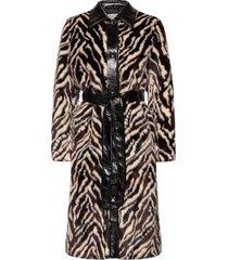 aurora coat outerwear faux fur multi/mönstrad stand studio