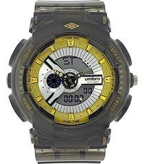 reloj transparente gris umbro