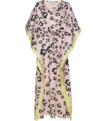 cruz kaftan dress knälång klänning rosa by malina