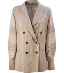 brunello cucinelli cotton organza blazer
