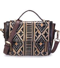 borsa a tracolla in vera pelle vintage brenice in stile nazionale per le donne