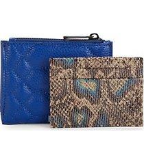 2-piece leather bi-fold wallet & cardholder set