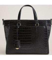 mango croc-effect shopper bag