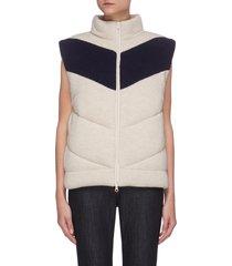 colourblock stand collar padded vest