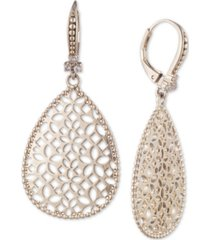 marchesa gold-tone filigree drop earrings
