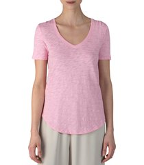 women's atm anthony thomas melillo slub v-neck tee, size x-small - pink