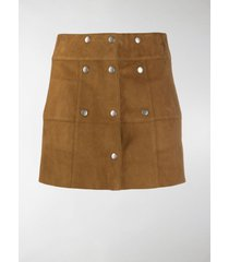 saint laurent buttoned mini skirt