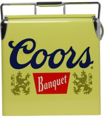 coors banquet retro ice chest cooler with bottle opener 13l