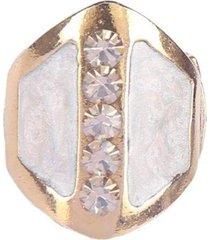 anel armazem rr bijoux resinado dourado - incolor - feminino - dafiti