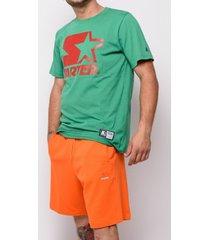 t-shirt korte mouw starter black label sweatshirt starter korte broek 72912-oranje