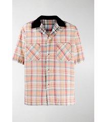 sacai madras check-print shirt