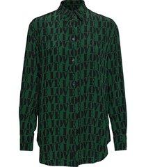prt love silk boyfri blouse lange mouwen groen calvin klein