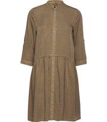 albana korte jurk bruin mbym